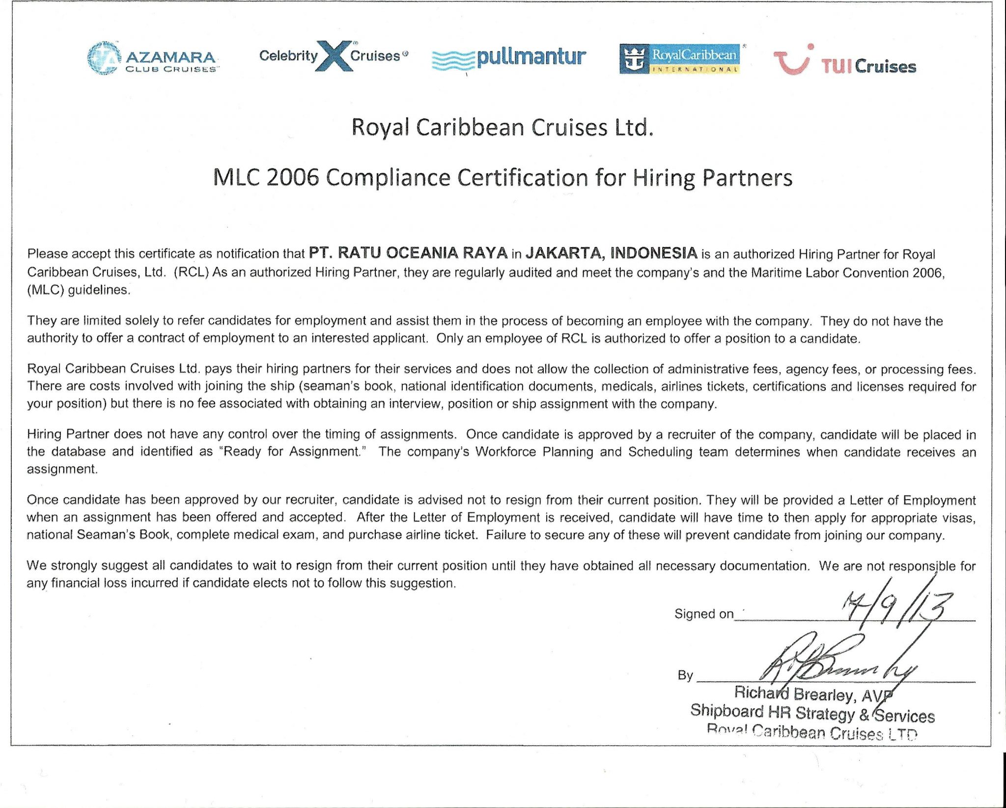ACHIVEMENT-MLC-2006-ROYAL-CARIBBEAN
